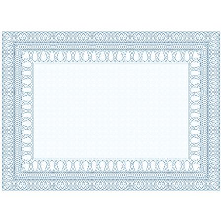 bordes decorativos: El formulario vacío para el certificado, Frontera del guilloquis