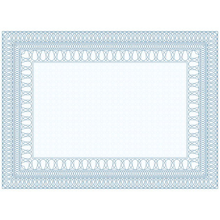 decorative borders: The empty form for the certificate, Guilloche border  Illustration