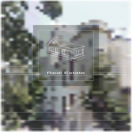 Blurred background. Theme of real estate. Gradient mesh and transparency used.  Vector