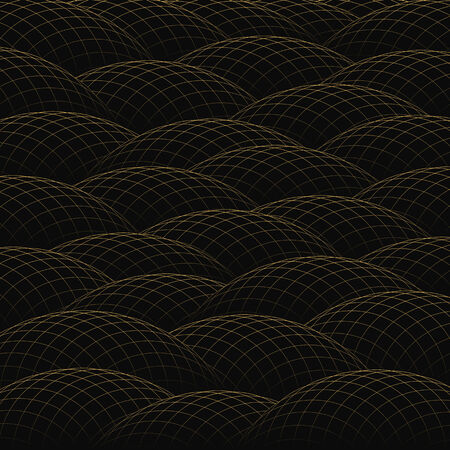 hillock: Hillocks of golden grid form an abstract background. Illustration