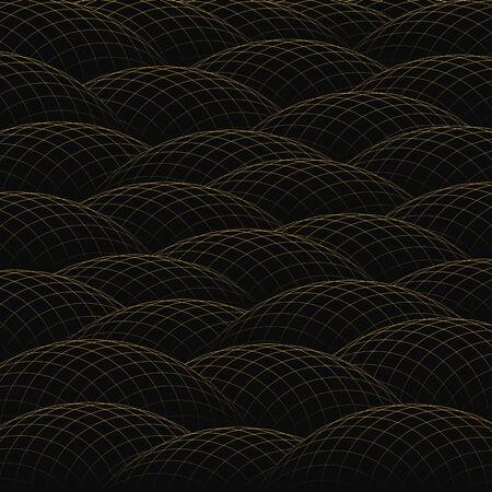 hillock: Lomas de rejilla de oro forman un fondo abstracto.