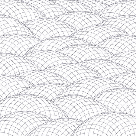 hillock: Mesh hillocks form an abstract background.