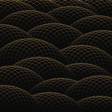 hillock: Colinas de rejilla de oro forman un fondo abstracto.