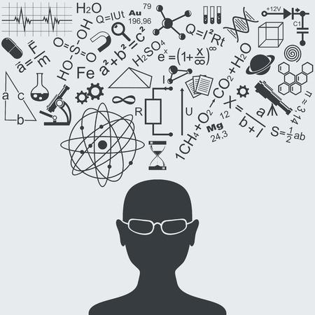 teorema: S�mbolos y f�rmulas cient�ficas. Se encuentra encima de la cabeza humana. Vectores