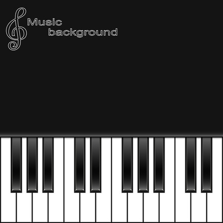 Piano keys on a black background Vectores