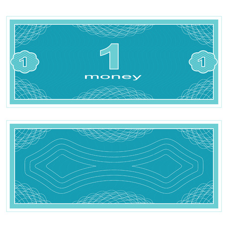 fake money: Game money. Set on a white background. Banknote one money.