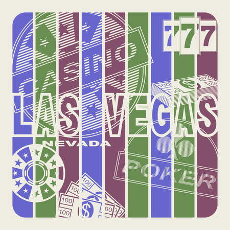 las vegas city: Las Vegas, city of entertainments and gamblings. Abstract background. Illustration