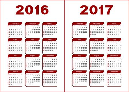 calendario julio: Calendario para 2016, 2017. El rojo y el negro letras y cifras sobre un fondo blanco.