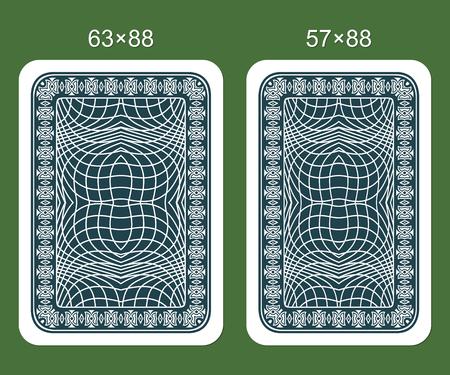 Diseños para el juego de cartas. Dos variantes de las tarjetas que juegan clásicas.