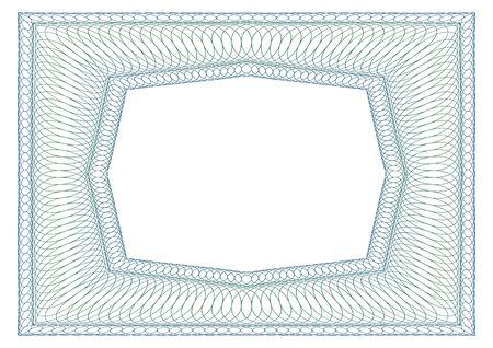 Décoratif cadre guilloché rectangulaire. espace libre octogonale au milieu. Vecteurs