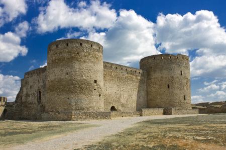 strengthening: Towers of Akkerman fortress. Strengthening is in the city of Belgorod-Dniester in Ukraine.