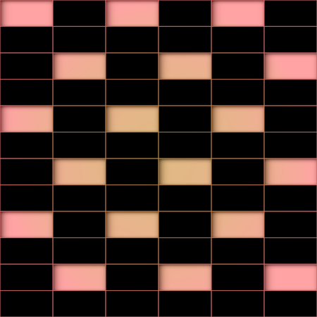 repetition row: Color holes against the background of a black tile. Abstract seamless background.