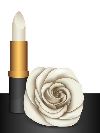 perfumery: White lipstick & white rose