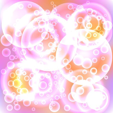 Lots Of Bubbles Form An Abstract Color Background. Royalty Free ...