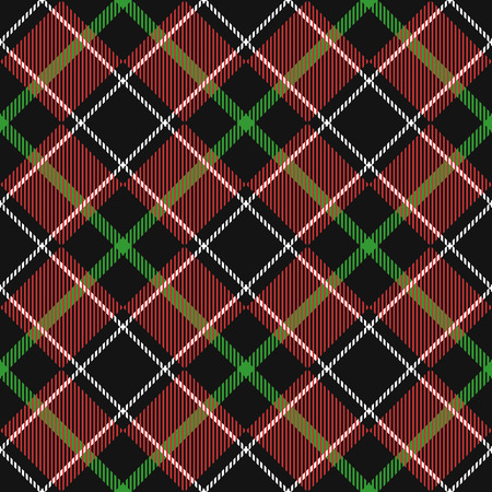 vintage weaving: Seamless Pattern Similar to the Scottish Tartan. Executed in Black and Red Colors.
