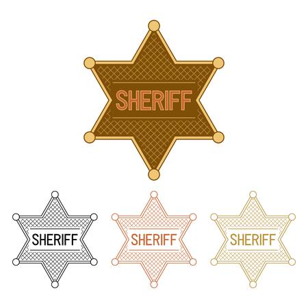 Sheriffs Stars. Set on a white background. Illustration