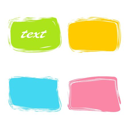Colorful rectangular banners. Set on a white background.