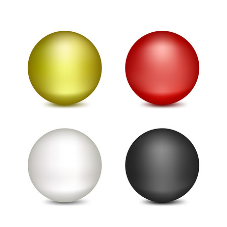 Set of Isolated colored balloons on white background.