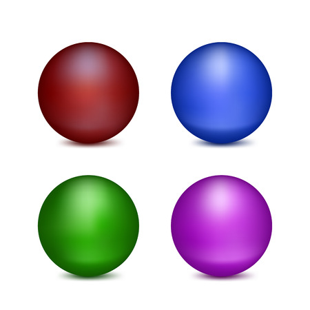 spherule: Set of Isolated colored balloons on white background.
