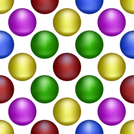 Set of Isolated colored balls on white background.