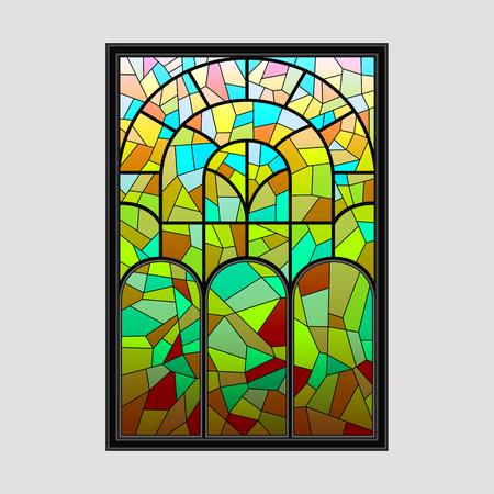 Window from a multicolored mosaic Ilustração
