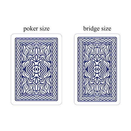 Backside of playing cards. Dark blue