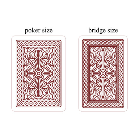 Backside of playing cards. Dark red