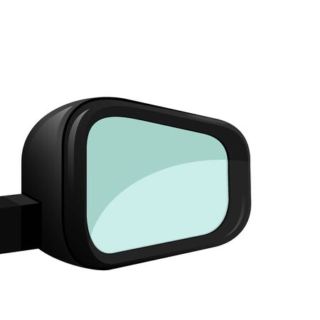Car mirror on a white background