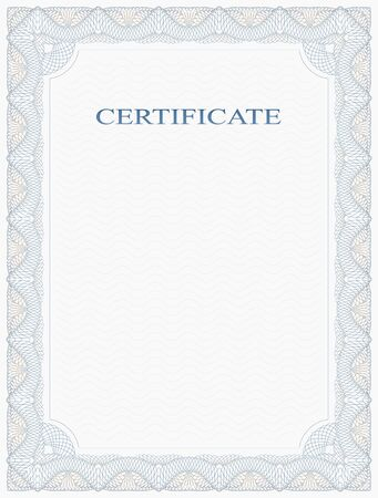 Abstract Guilloche Frame. Vertical Certificate Form.
