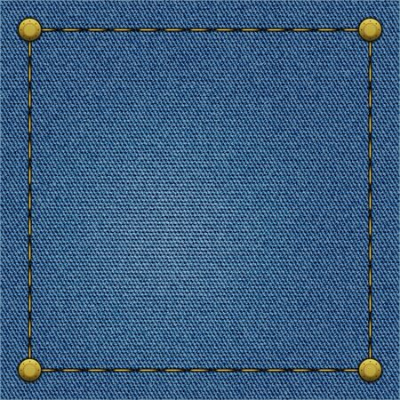 Frame on a blue denim background