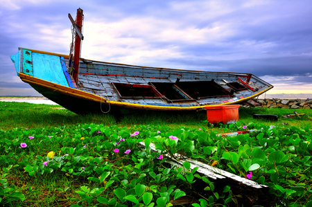 Wreck beach in Rayong photo