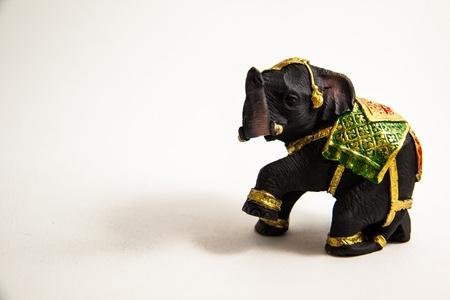 Elephant Dekor auf wei�em Hintergrund - Thai Souvenir