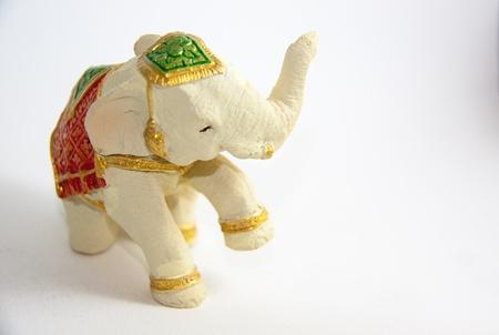 Elephant decor on white background - Thai Souvenir Stock Photo