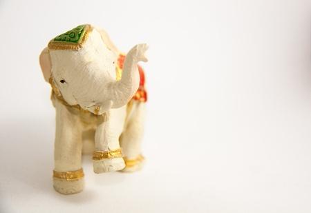 Elephant decor on white background - Gift