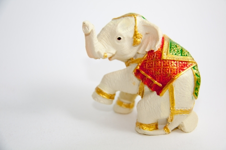 Elephant decor on white background - Souvenir