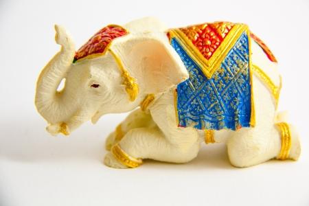 Elephant grovel decor on white background - Souvenir