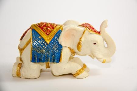 Elephant kriechen Dekor auf wei�em Hintergrund - Souvenir