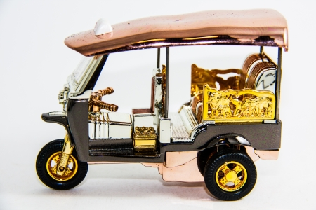 Taxi tuk tuk Thailand model on white backgroud - Thai souvenir photo