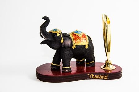 Thailand Elephant Farbe schwarz Harz keine Feder Wohnkultur - Thai Souvenir