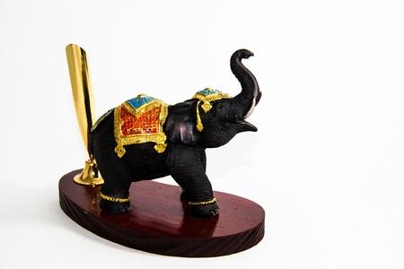 Thai Elephant Farbe schwarz Harz keine Feder Wohnkultur - Thai Souvenir Lizenzfreie Bilder