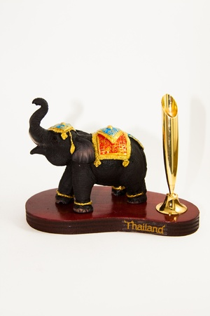 shop for animals: Thai Elephant color black resin no pencil home decor - Thai souvenir