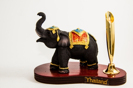 shop for animals: Thailand Elephant color black resin for input pencil home decor - Thai souvenirs