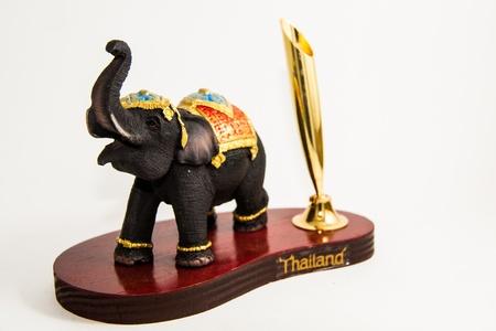 Thailand Elephant color black resin for input pen home decor - Thai souvenirs