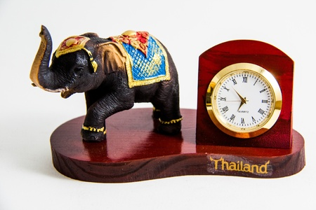 Thai Elephant color black resin show time for home decor - Thai souvenir