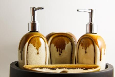 Bathroom Toiletries luxury product on white background