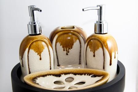 K�rperpflege Luxus-Produkt auf wei�em Hintergrund Lizenzfreie Bilder