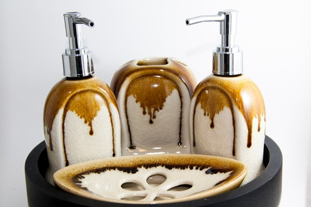 Toiletries luxury product on white background
