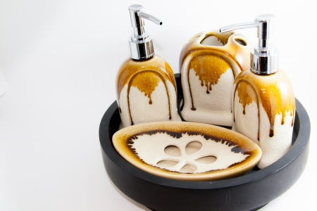 Bad Produkt Luxus auf wei�em Hintergrund - Geschenke