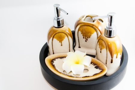 Bathroom product with flower