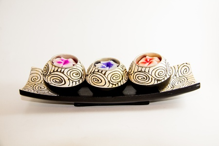 Spa candle relax aromatherapy tool handmade - Thai souvenir Stock Photo